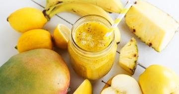 Smoothie Banane Apfel Kokos 360x189 - Rezepte